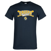 Navy T Shirt-Baseball Crossed Bats Design