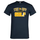 Navy T Shirt-Tee Off Golf Design