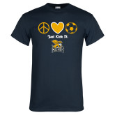 Navy T Shirt-Just Kick It Soccer Design
