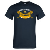 Navy T Shirt-2018 Mens Lacrosse Champions