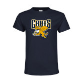 Youth Navy T Shirt-Griffs w/ Griff Stacked