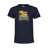 Youth Navy T Shirt-Canisius w/ Griff Stacked