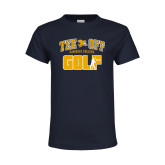 Youth Navy T Shirt-Tee Off Golf Design