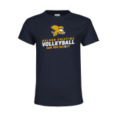 Youth Navy T Shirt-Can You Dig It - Volleyball