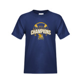 Youth Navy T Shirt-2017 MAAC Champions Baseball