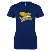Next Level Ladies SoftStyle Junior Fitted Navy Tee-Griffin