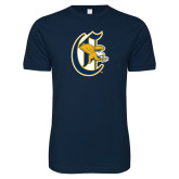 Next Level SoftStyle Navy T Shirt-Old English C Griffs