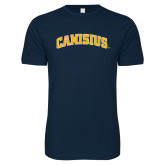 Next Level SoftStyle Navy T Shirt-Arched Canisius