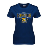 Ladies Navy T Shirt-2016 MAAC Champions Womens Lacrosse