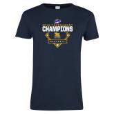 Ladies Navy T Shirt-2018 MAAC Baseball Champions