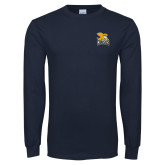 Navy Long Sleeve T Shirt-Canisius w/ Griff Stacked