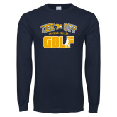 Navy Long Sleeve T Shirt-Tee Off Golf Design