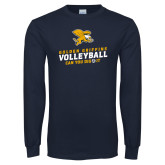 Navy Long Sleeve T Shirt-Can You Dig It - Volleyball