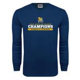 Navy Long Sleeve T Shirt-2016 Regular Season Champions Womens Lacrosse