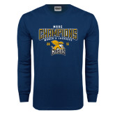 Navy Long Sleeve T Shirt-2016 MAAC Champions Womens Lacrosse