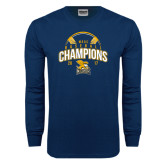 Navy Long Sleeve T Shirt-2017 MAAC Champions Baseball