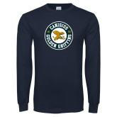 Navy Long Sleeve T Shirt-Canisius Golden Griffins 1870