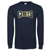 Navy Long Sleeve T Shirt-Griffs Wordmark