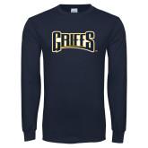 Navy Long Sleeve T Shirt-Griffs Wordmark
