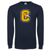 Navy Long Sleeve T Shirt-Capital C Griffs