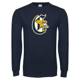 Navy Long Sleeve T Shirt-Old English C Griffs