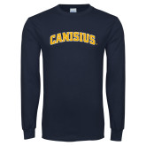 Navy Long Sleeve T Shirt-Arched Canisius
