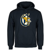 Navy Fleece Hoodie-Old English C Griffs