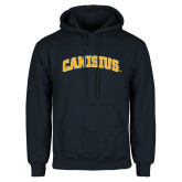 Navy Fleece Hoodie-Arched Canisius