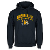 Navy Fleece Hoodie-Arched Canisius College Hockey