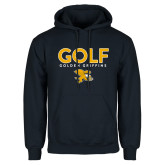 Navy Fleece Hoodie-Golf Design