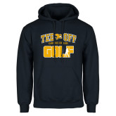 Navy Fleece Hoodie-Tee Off Golf Design