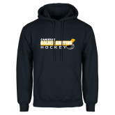 Navy Fleece Hoodie-Hockey Stick Design