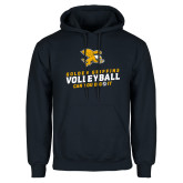 Navy Fleece Hoodie-Can You Dig It - Volleyball