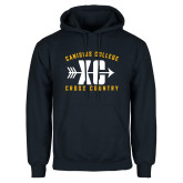 Navy Fleece Hoodie-Cross Country Design