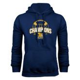 Navy Fleece Hood-2017 MAAC Champions Baseball