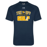 Under Armour Navy Tech Tee-Tee Off Golf Design