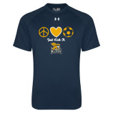 Under Armour Navy Tech Tee-Just Kick It Soccer Design