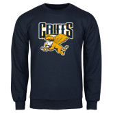 Navy Fleece Crew-Griffs w/ Griff Stacked