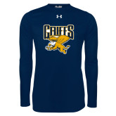 Under Armour Navy Long Sleeve Tech Tee-Griffs w/ Griff Stacked