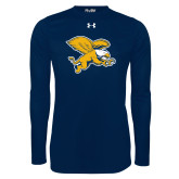 Under Armour Navy Long Sleeve Tech Tee-Griffin