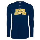Under Armour Navy Long Sleeve Tech Tee-Arched Golden Griffins