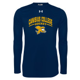 Under Armour Navy Long Sleeve Tech Tee-Arched Canisius College Hockey