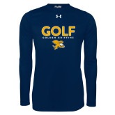 Under Armour Navy Long Sleeve Tech Tee-Golf Design