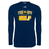 Under Armour Navy Long Sleeve Tech Tee-Tee Off Golf Design