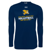 Under Armour Navy Long Sleeve Tech Tee-Can You Dig It - Volleyball
