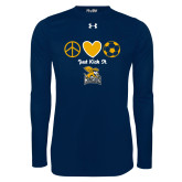 Under Armour Navy Long Sleeve Tech Tee-Just Kick It Soccer Design