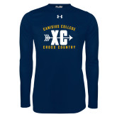 Under Armour Navy Long Sleeve Tech Tee-Cross Country Design