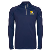 Under Armour Navy Tech 1/4 Zip Performance Shirt-Canisius w/ Griff Stacked