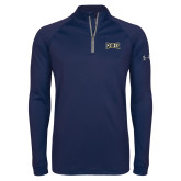 Under Armour Navy Tech 1/4 Zip Performance Shirt-Griffs Wordmark