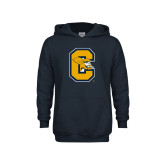 Youth Navy Fleece Hoodie-Capital C Griffs